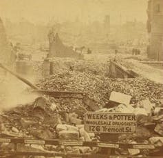 Photo of ruins in downtown Boston.