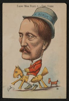 Cartoon of Henry Bergh