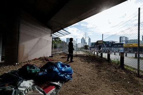 Raymond Ward, one of dozens of people living in Perth's 'Tent City' homeless camp, east of the CBD, November 5 2020.
