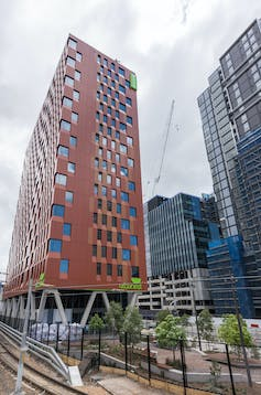 View of Urbanest student accommodation in Sydney