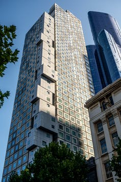 View of Scape tower in Melbourne