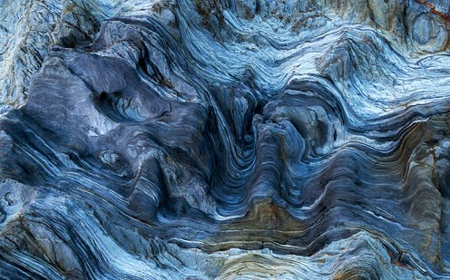 marbled rock