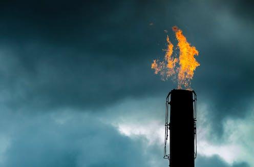 Gas flare in Western Australia