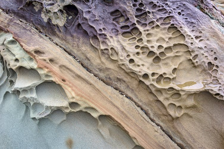 Detail of eroded rock