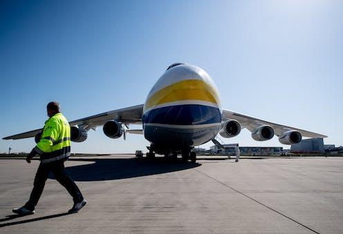 A cargo aeroplane.