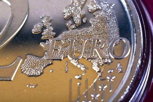 Detalle de una moneda de 2 euros