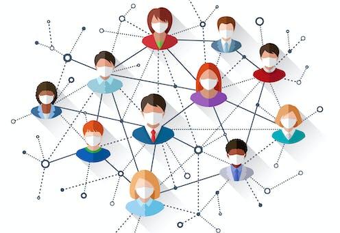 Illustration of human networks