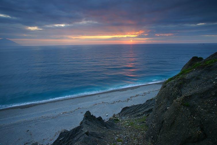 Samudra Pasifik di pesisir Taiwan.