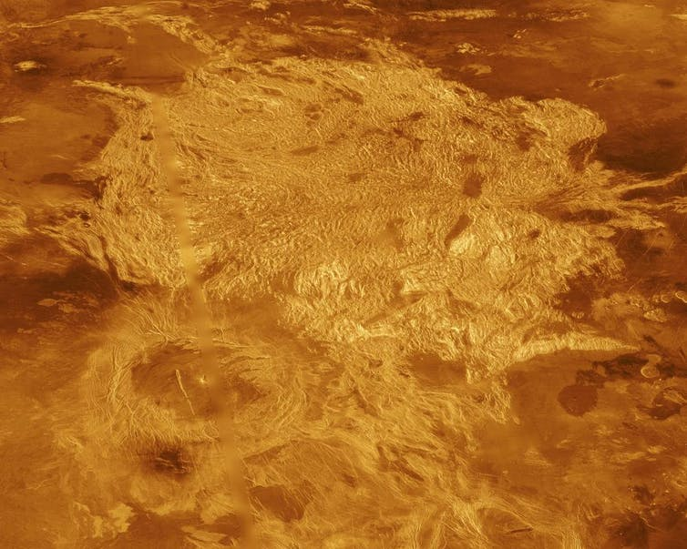 rock surface of Venus