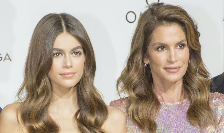 Kaia Gerber inherited her nose from supermodel mother Cindy Crawford.