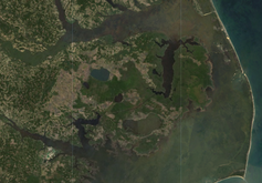 Satellite image of coastal North Carolina