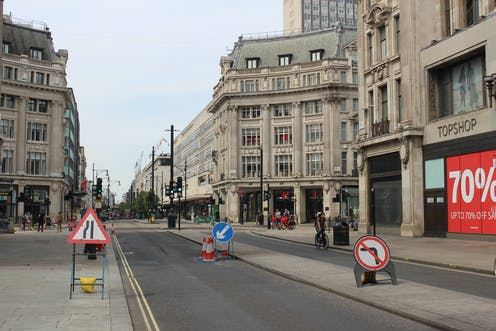 Empty shopping street