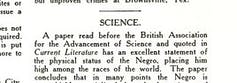 Subheading 'SCIENCE' above a column of text.