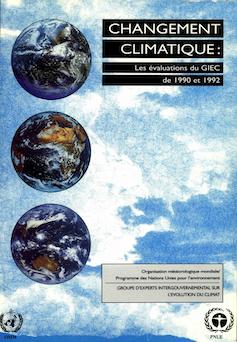 Couverture du premier rapport du GIEC