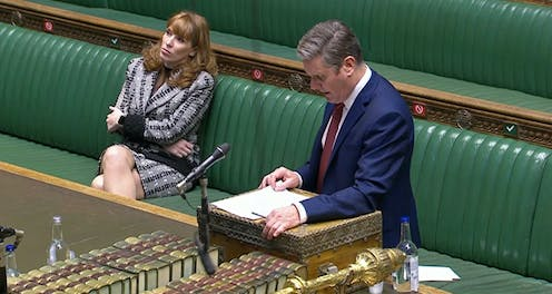 Angela Rainer and Keir Starmer in parliament.