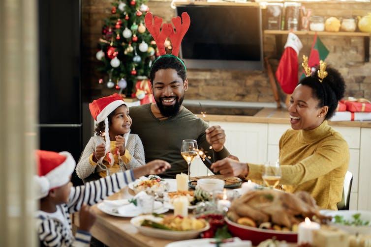 Immediate family Christmas dinner.