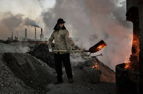 An illegal steel mill in Inner Mongolia, China.