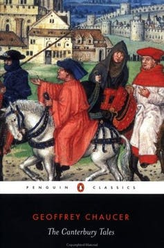 Book cover: The Canterbury Tales