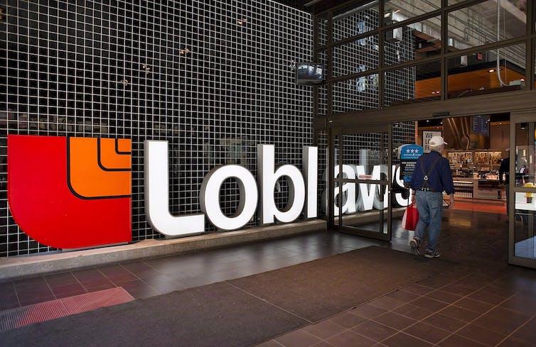 A man walks into a Loblaws store
