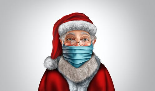 Santa wearing a face mask