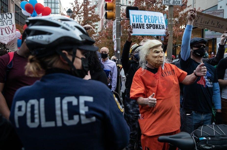 Manifestation anti-Trump le 6 novembre 2020.