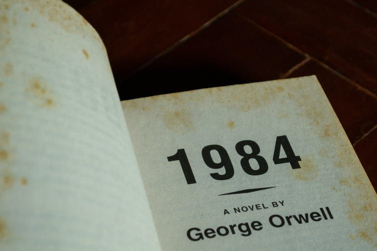 The front-matter section of 1984 by George Orwell