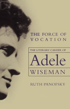 Adele Wiseman seen in profile on a book cover.
