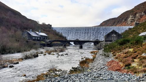 The Caban Coch dam in Wales' Elan Valley