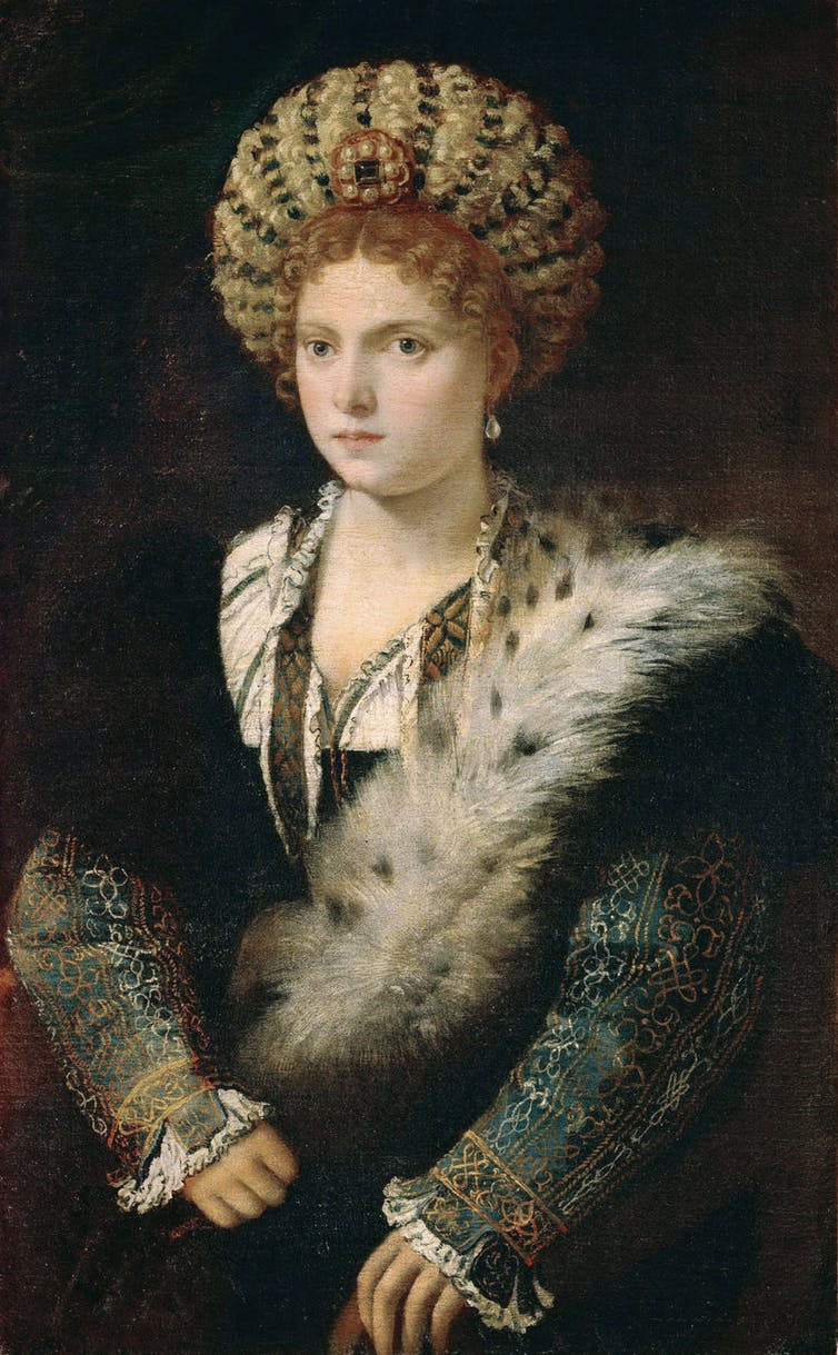 An oil painting of Isabella d'Este