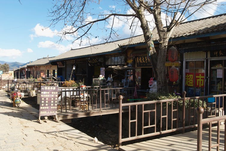 Shops in one of the Mosuo villages.