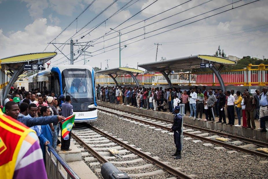 Inauguration du tramway d'Addis-Abeba, construit par la Chine
