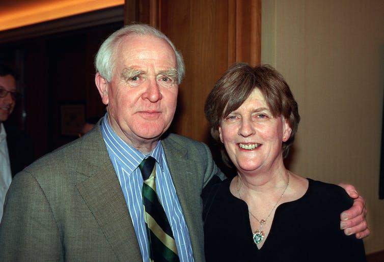 John le Carre (David Cornwell) and wife Jane Cornwell.