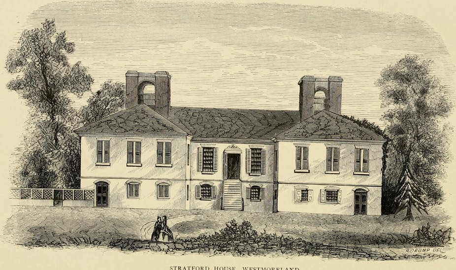 Stratford Hall in Westmoreland, Virginia