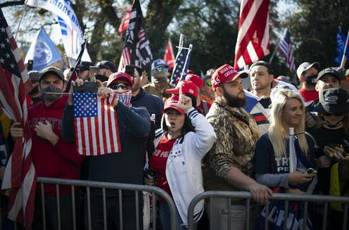 Trump supporters at the Million MAGA March in Washington on Nov. 14, 2020.