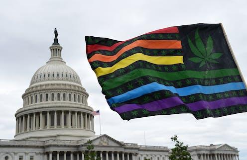 Activists demand that Congress pass cannabis reform legislation.