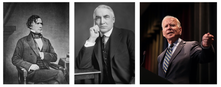 Franklin Pierce, Warren Harding, Joe Biden