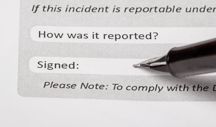 Incident report.