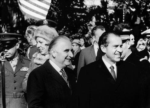Georges Pompidou et Richard Nixon