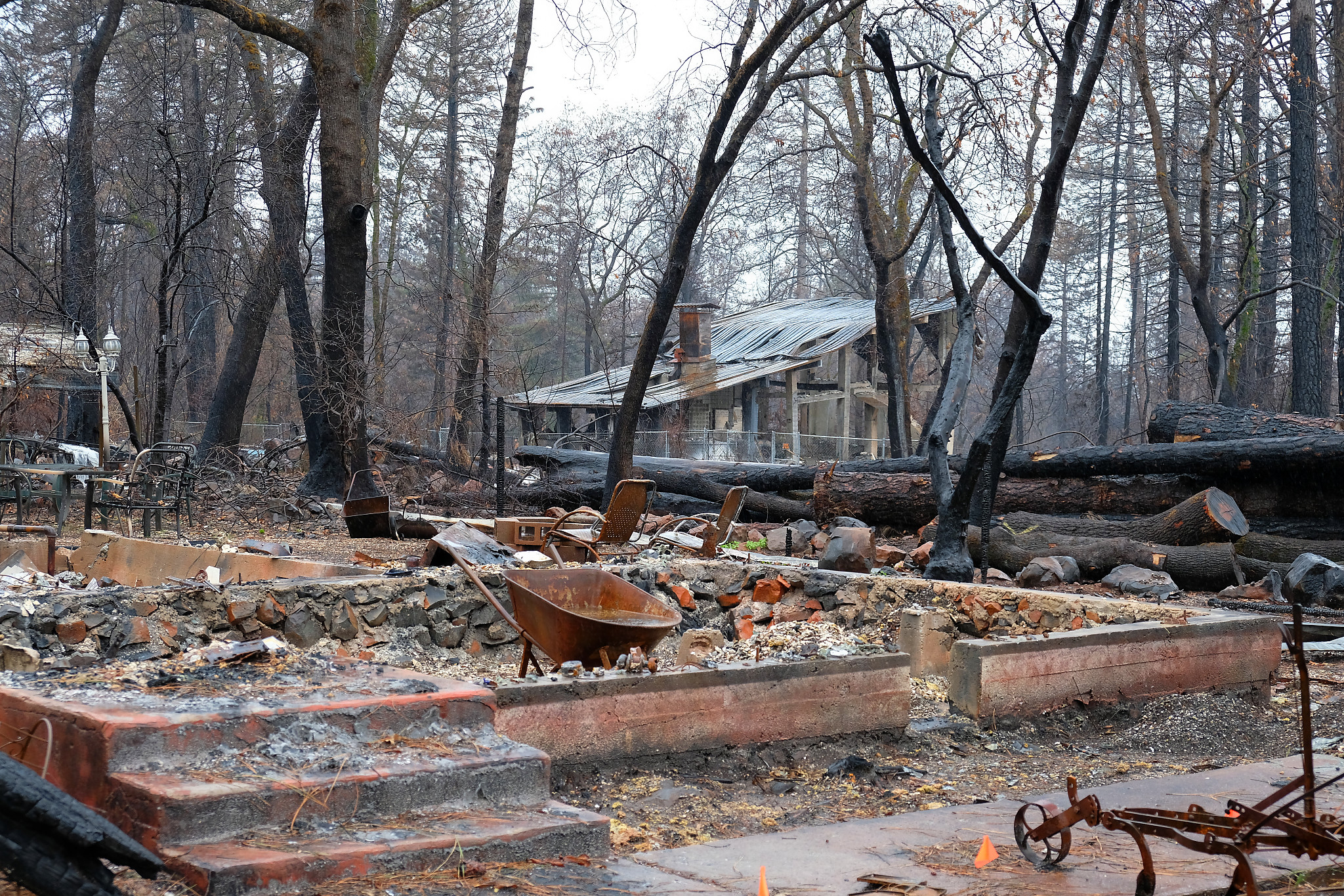 Homes that burned in California.