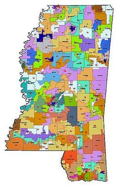 Mississippi's legislative districts