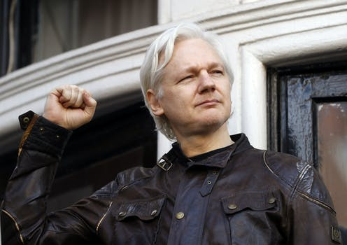 Julian Assange file photo from 2017