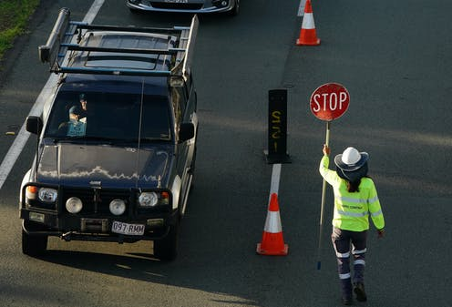 Motorist at a Queensland-NSW border checkpoint