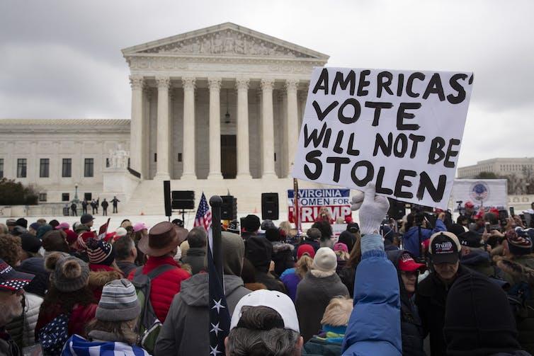 Trump supporters are protesting the Electoral College vote