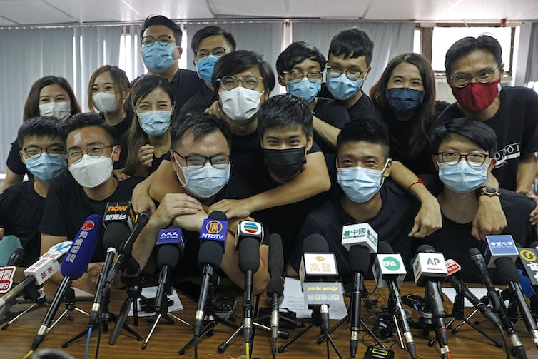 Pro-democracy activists in Hong Kong