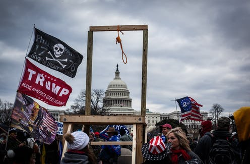 US Capitol storming, gallows, Trump supporters