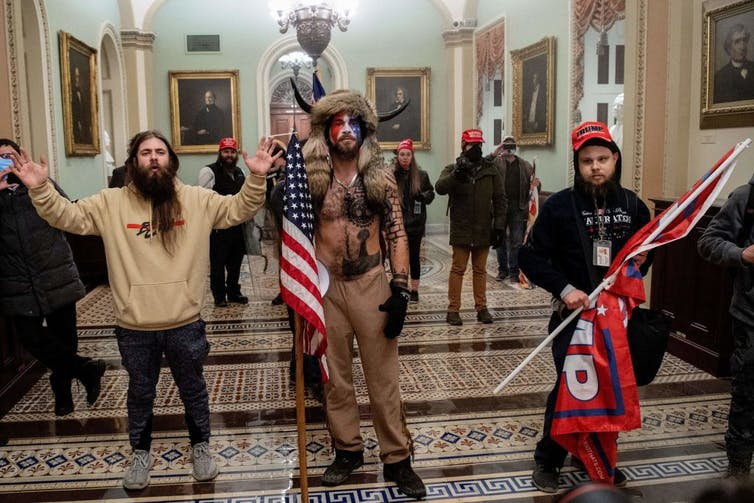 QAnon supporters, US Capitol