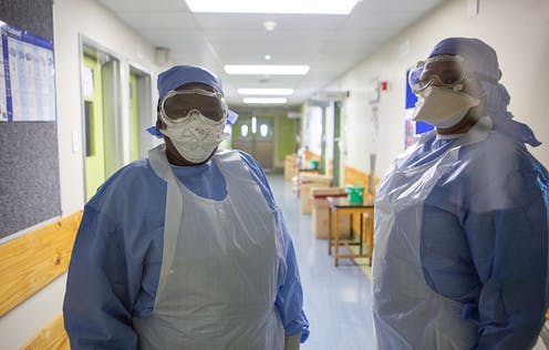 Making a hospital space feel psychologically safer helped South African health workers