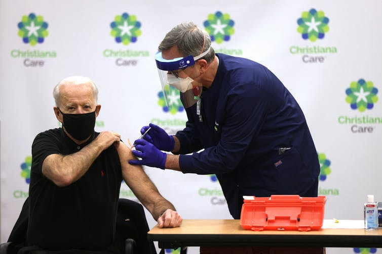 President-elect Biden receives his COVID-19 vaccination shot.