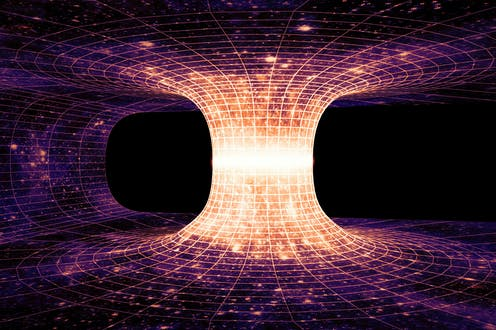 Artist's impression of a wormhole.