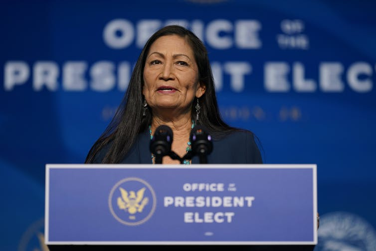 Native American congresswoman Deb Haaland